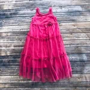 Girls pretty pink dress with cute details! Size 6X